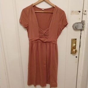 J. Crew tan cotton dress, square neckline XS